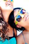 purple skies,yellow sunglasses