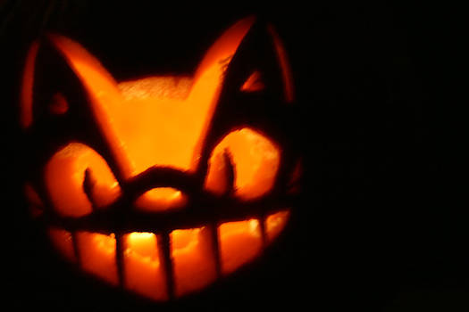 Cat Bus jack-o-lantern