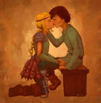 Hiccup and Astrid fluff
