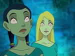 Cornelia and Hay Lin hypnotized
