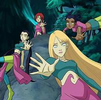 The 4 hypnotized Guardians...