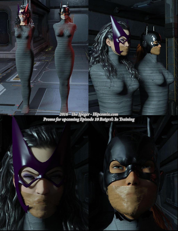 huntress in bondage comic