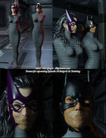 Batgirl and Huntress taped by thejpeger