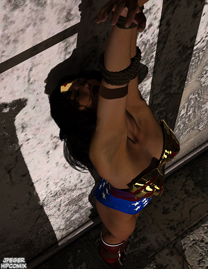 Wonder Woman Strung Up 2 by thejpeger