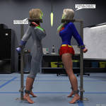 Powergirl and Supergirl 01
