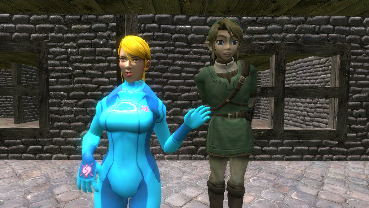 zero suit samus and link kiss - photo #9