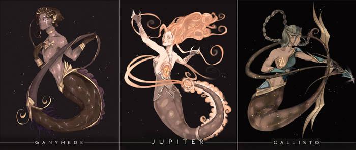 Space mermay - Jupiter