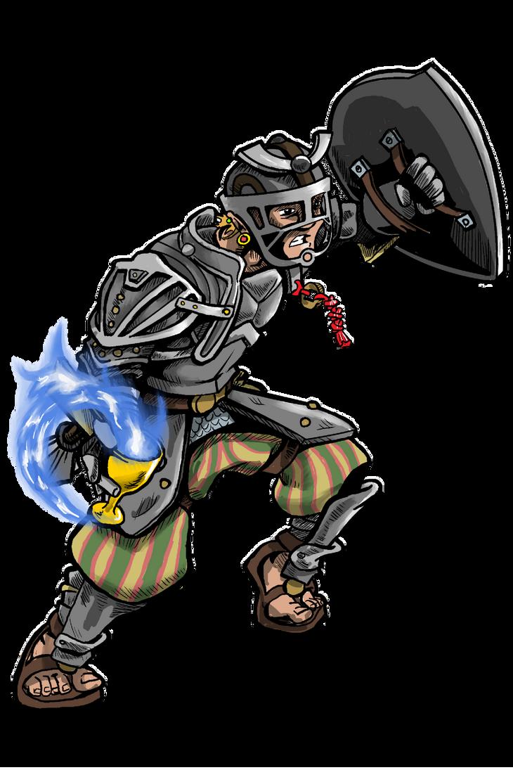 Lysander, half-elf cleric by foolsmask