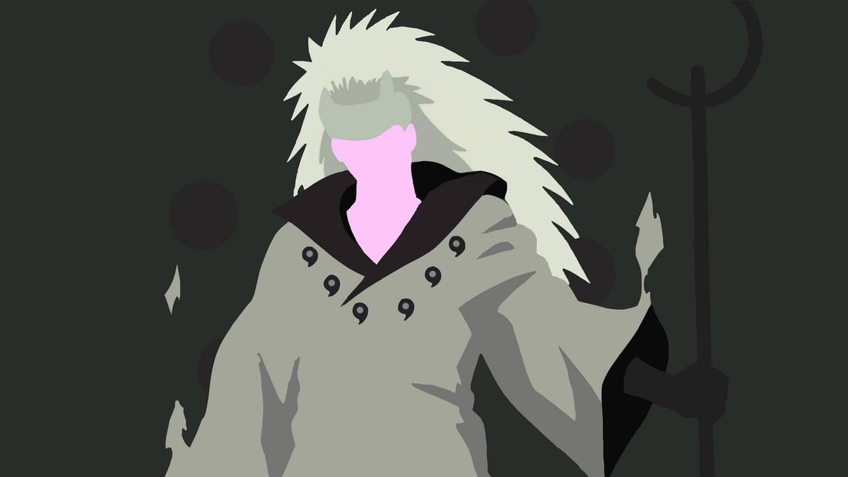 Madara Uchiha - Sennin Form (Naruto) Minimalist by ArticArtwork