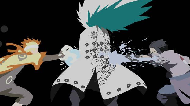 Fourth Shinobi War (Naruto) - Minimalist Wallpaper