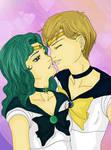 Haruka and Michiru - Almost Kiss