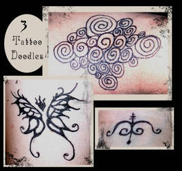 3 Tattoo Doodles by The-Fattness