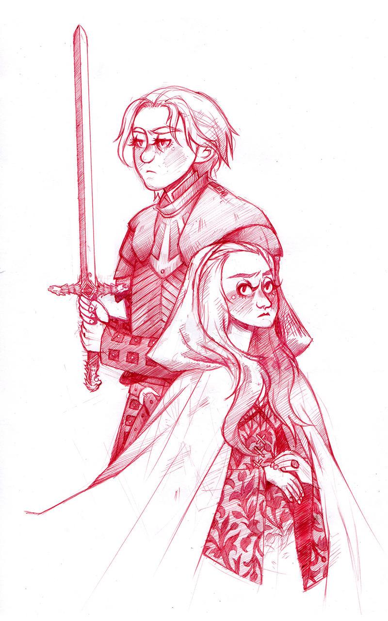 Brienne and Sansa by susannguyen