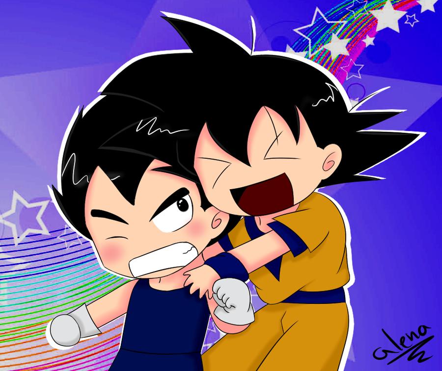 Goku and Vegeta x3 by leeniej on DeviantArt