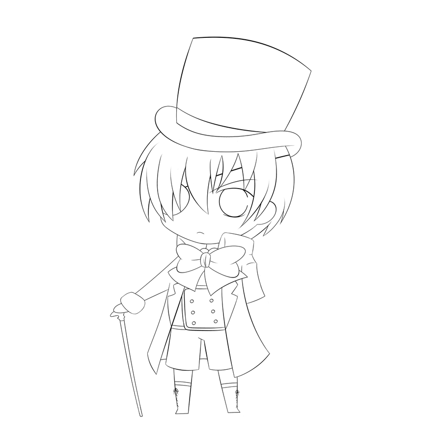 anime ciel coloring pages - Black Butler Chibi Coloring Pages
