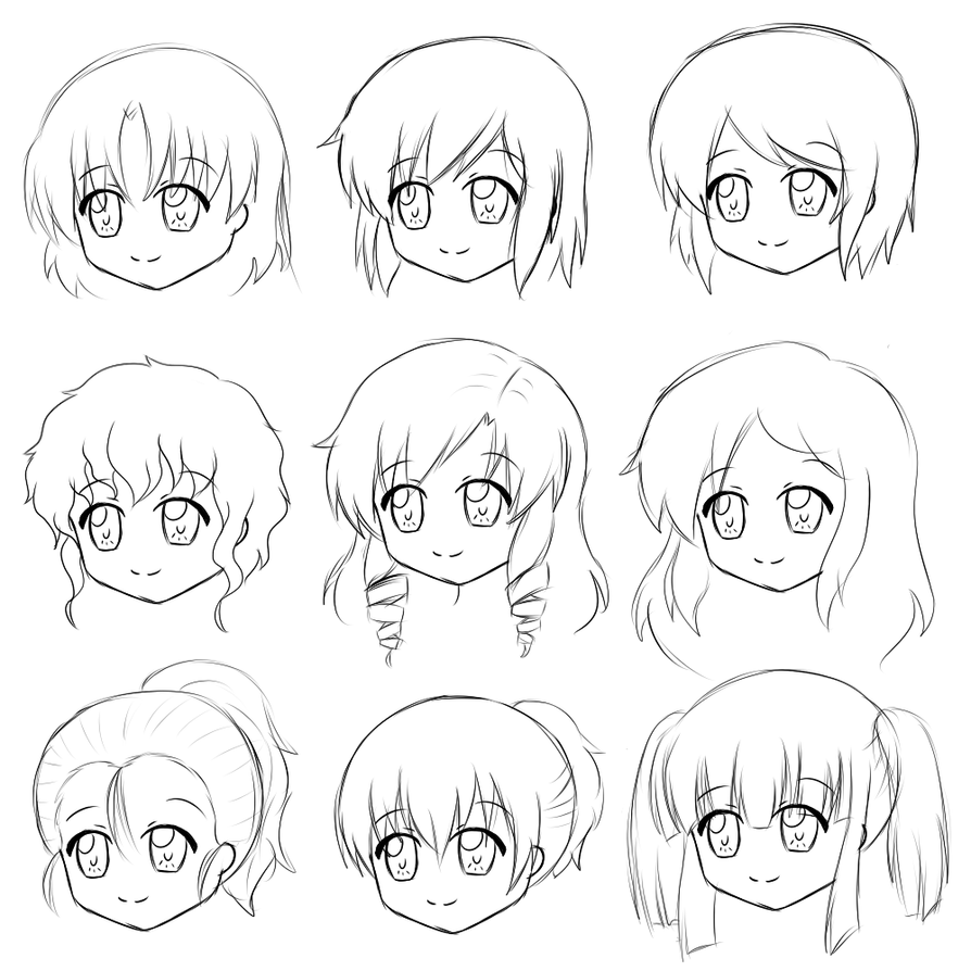 Hairstyles For Tsukoji By Leeniej On Deviantart