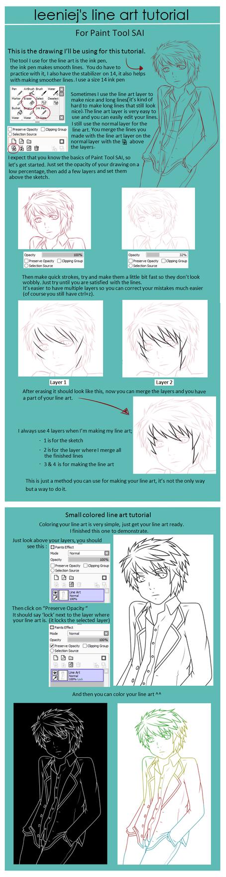 Single Weight Line Art Tutorial : Line art tutorial by leeniej on deviantart