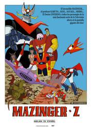 Mazinger Z. Movie poster (80s) by vectormz