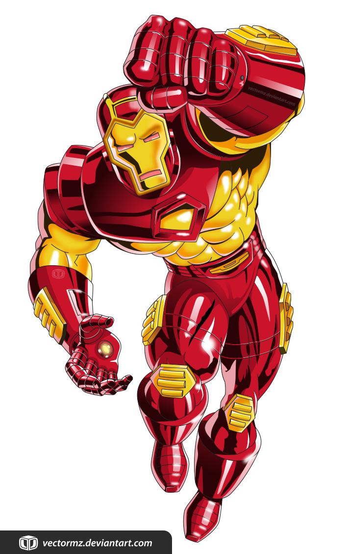 IRON MAN TAS RED 90s by vectormz