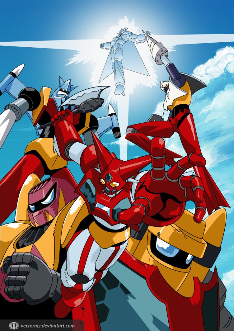 Getter Robot Poster by vectormz