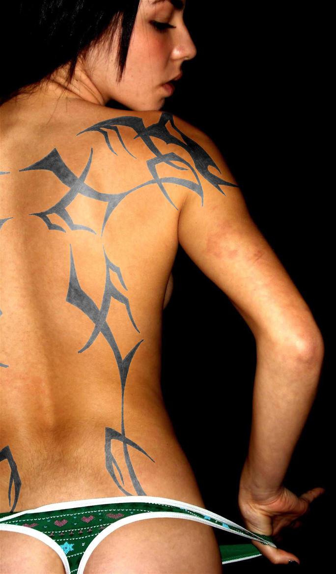 Absinthe Jeweled - shoulder tattoo