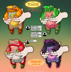 [OPEN 3/4] Collab Adopts Auction - Fruit Toads!