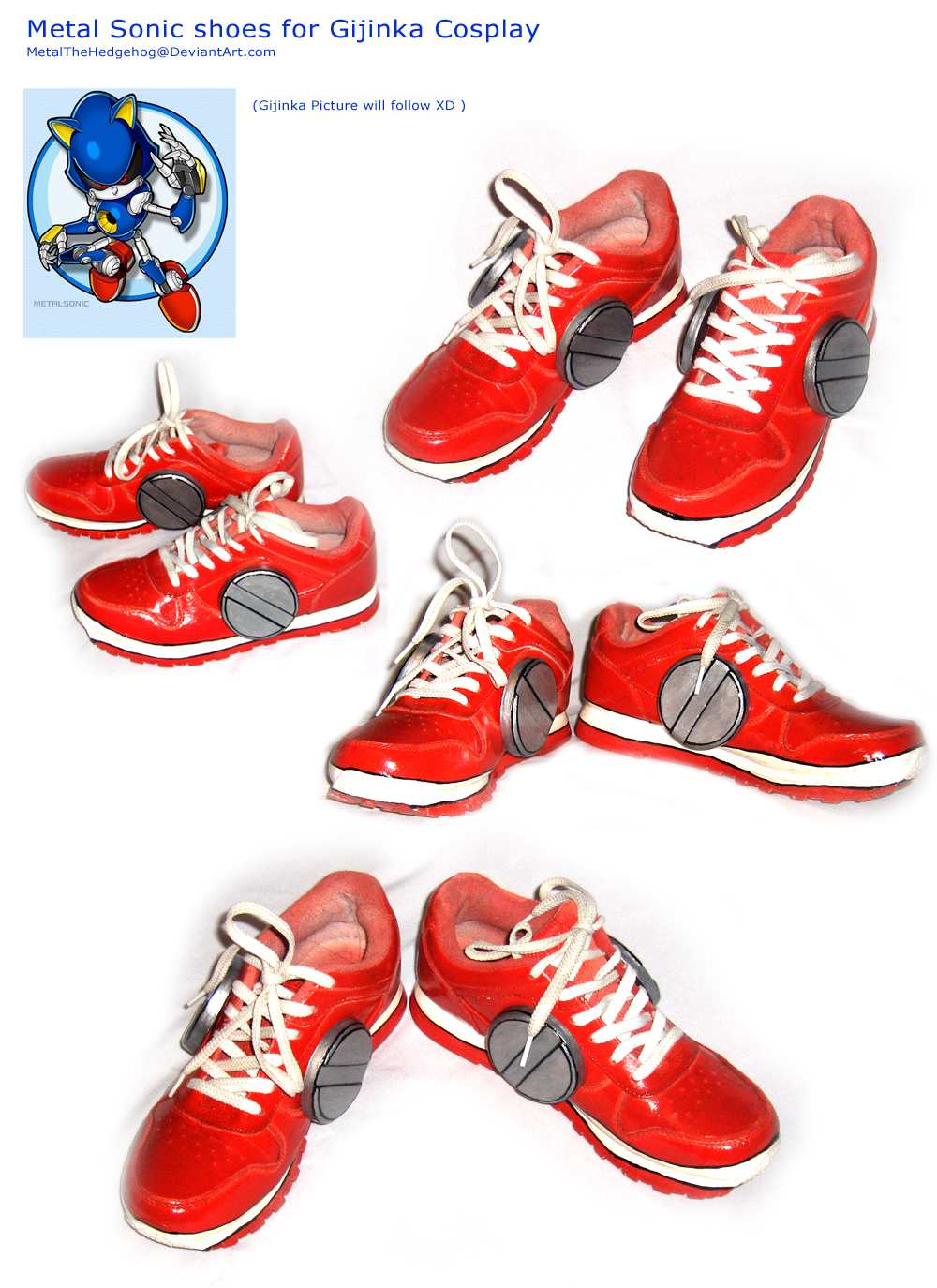 Metal Sonic Cosplay shoes by Metal-CosxArt