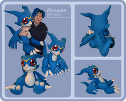 Veemon Plushie by Metal-CosxArt