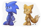 Random Retro Sonic and Tails by Metal-CosxArt