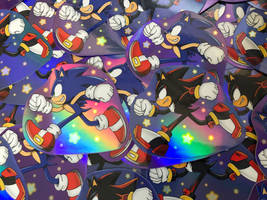 Sonic and Shadow Holo Sticker