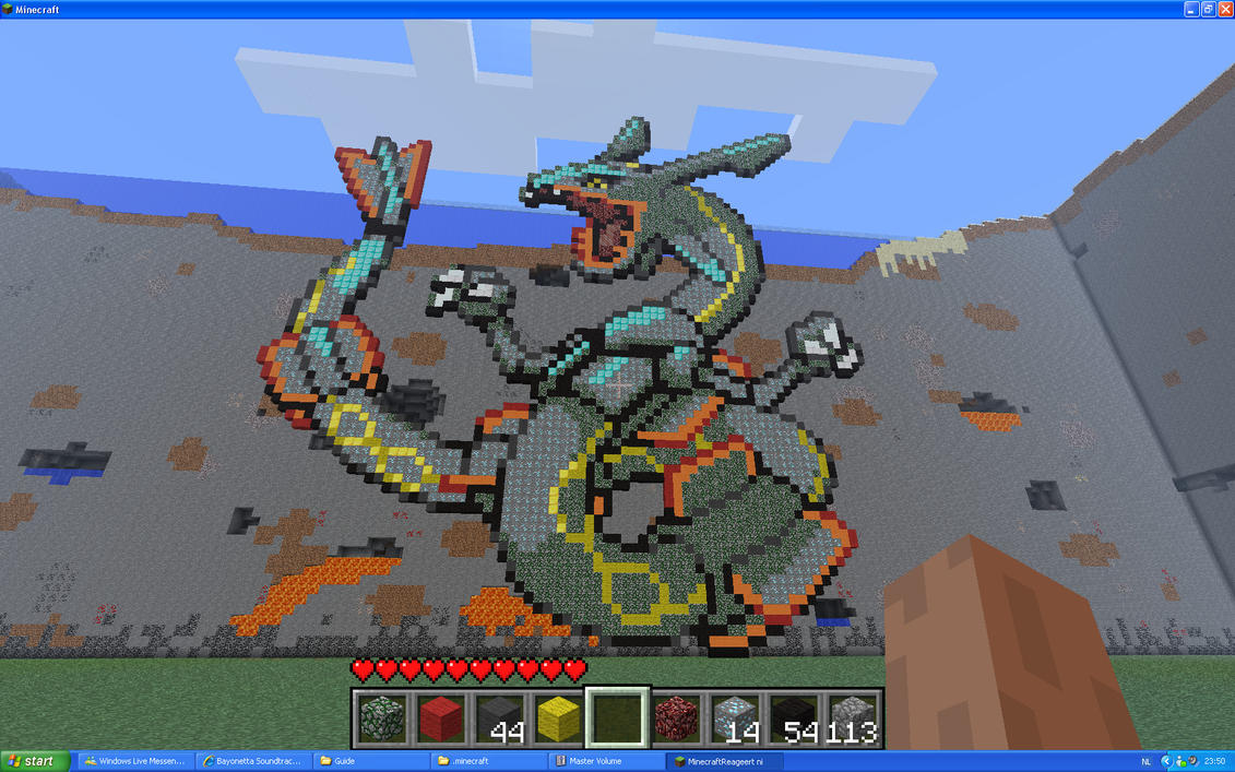 Rayquaza On Minecraft by Miccopicco