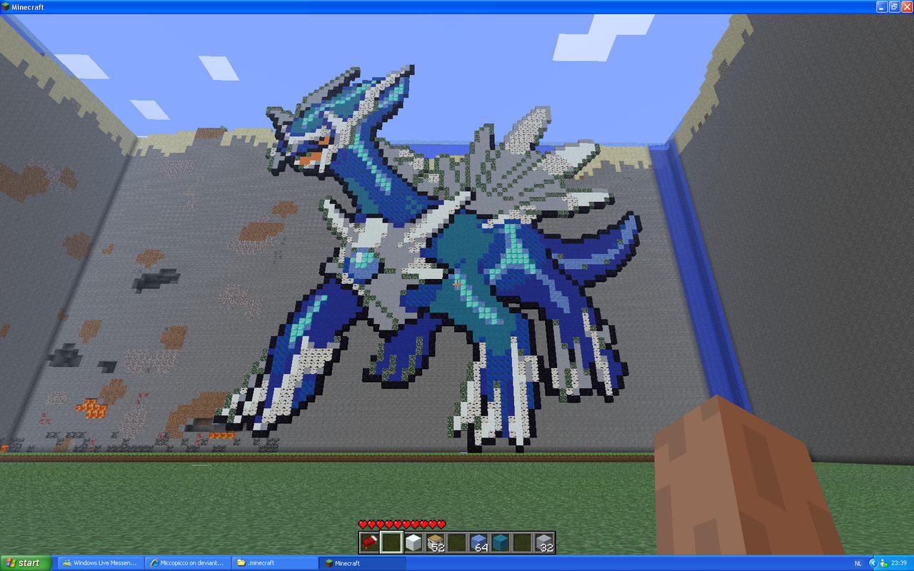 Dialga On Minecraft by Miccopicco