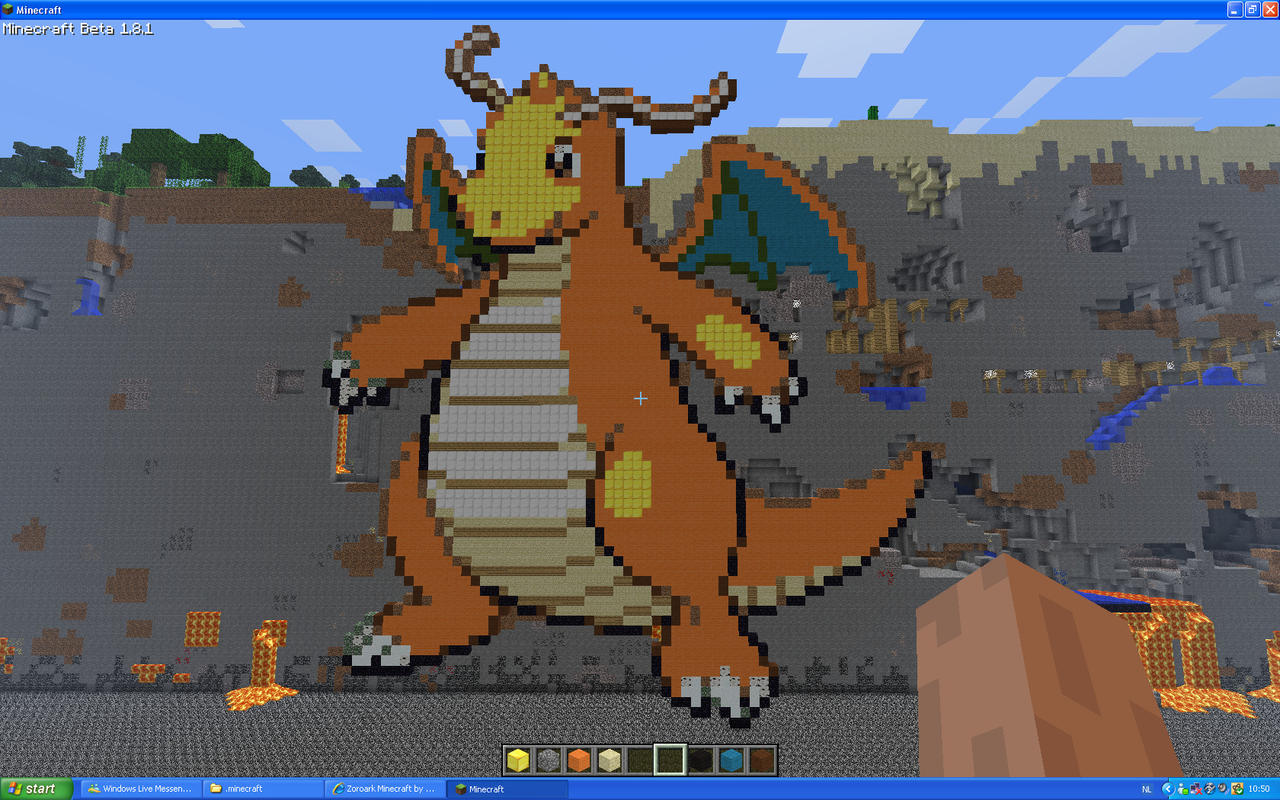 Dragonite On Minecraft by Miccopicco