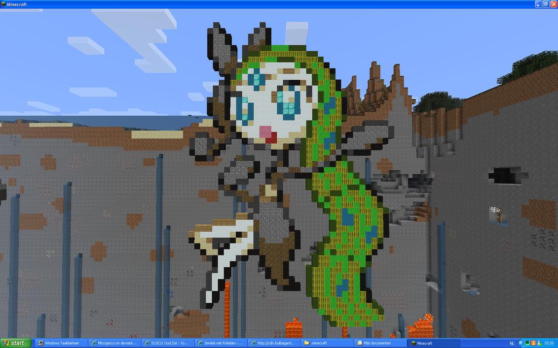 Meloetta Aria Form On Minecraft by Miccopicco on DeviantArt
