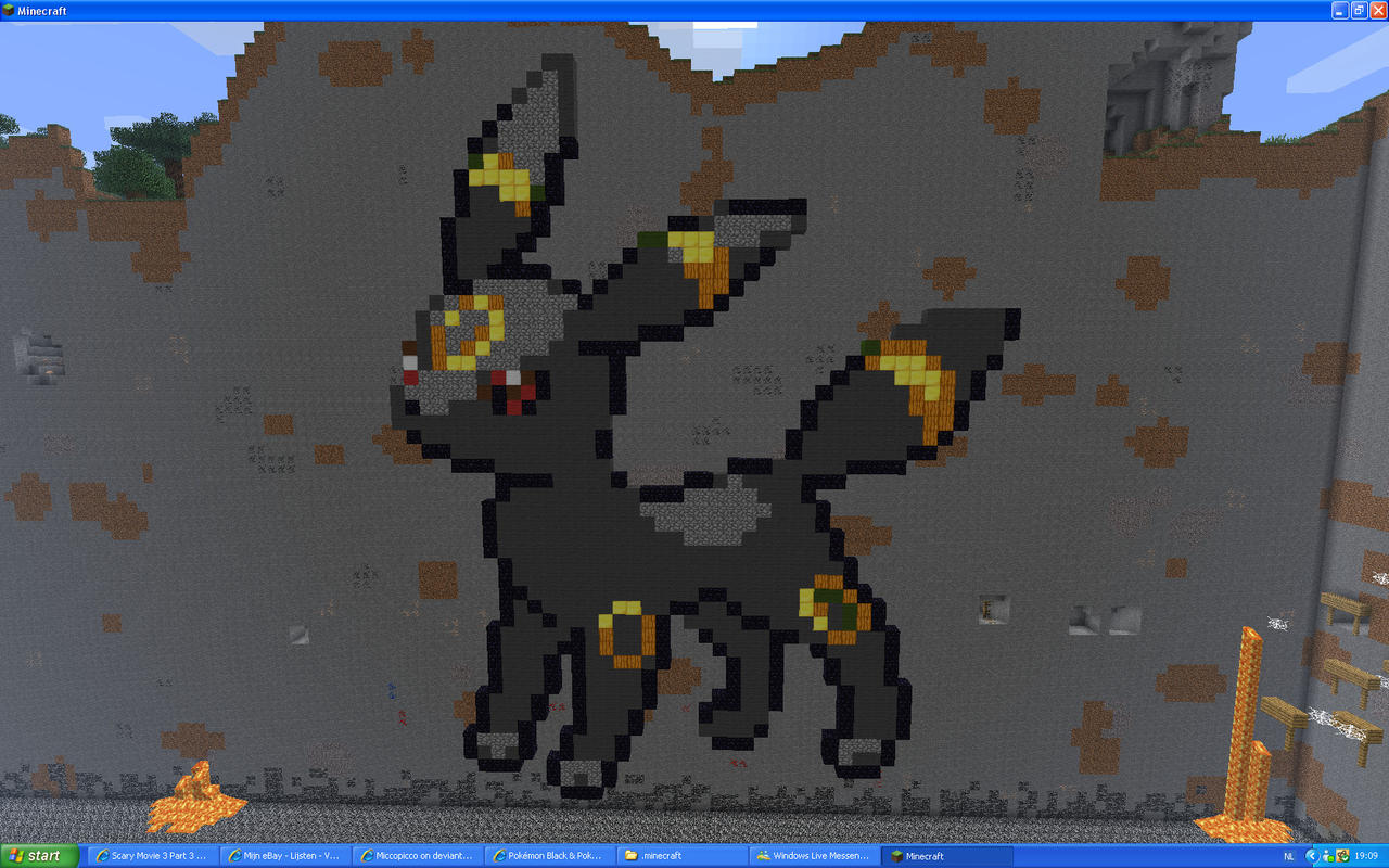 Umbreon On Minecraft by Miccopicco
