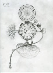 Study of time pencil sketch