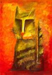 The Cat in orange