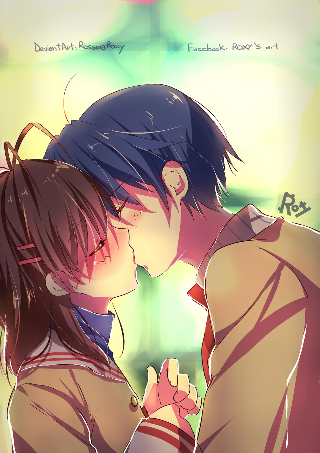 clannad tomoya and nagisa kiss