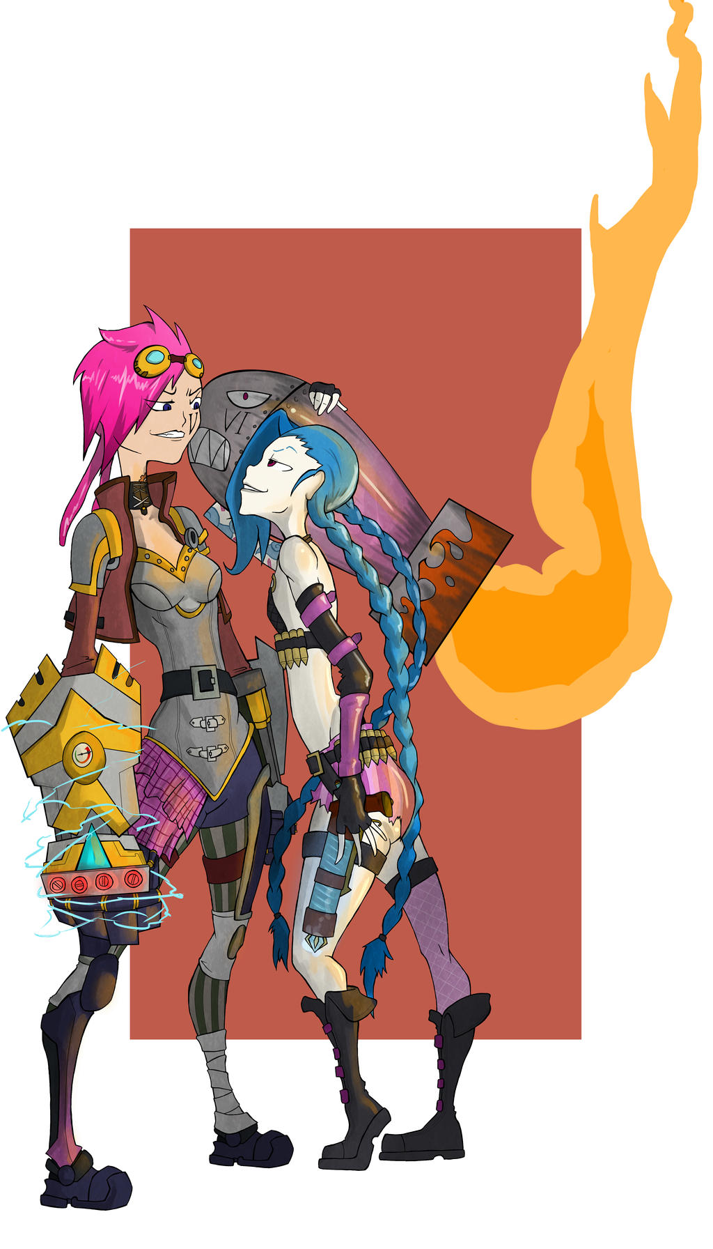 Vi Vs Jinx Color by juanrock
