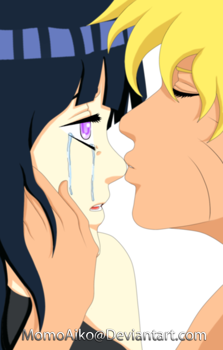 Naruhina comforting kiss by MomoAiko
