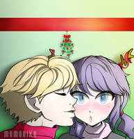 An adrinette kiss for a holiday wish by MomoAiko