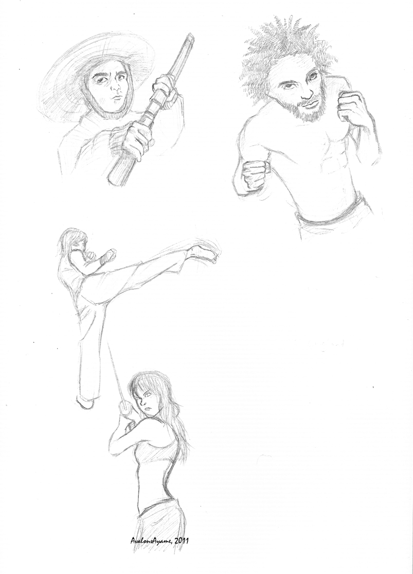 Martial Arts Poses By Avalonsayame On Deviantart
