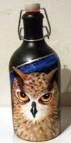 Owl in the bottle by Frollino