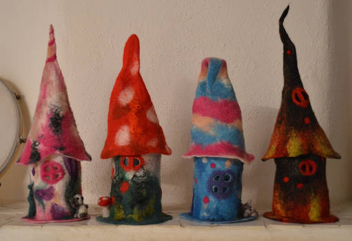 Little felted  houses
