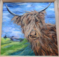 Felted Highland Cow