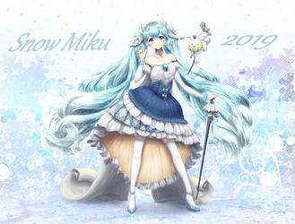 Snow Miku by KirakiPeachy