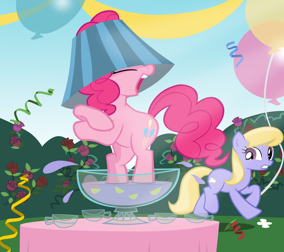 Pinkie Pie is an out of control party animal by kas92