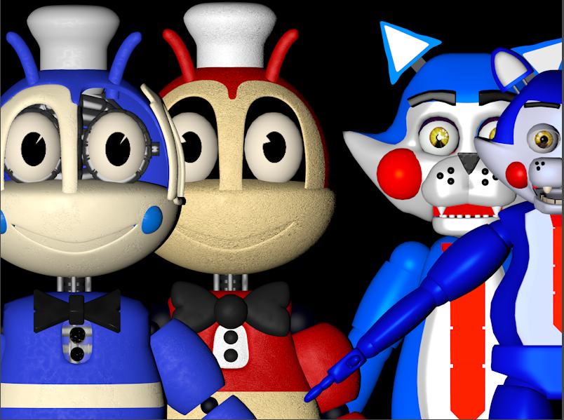 C4D/FNAF/FNAC 1-2/JOLLY 1-2] Bee's and Cat's by