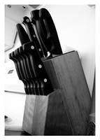 Kitchen: Knives. by Chameleonperson
