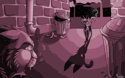 Scourge in an alley
